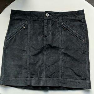 Athleta Charcoal Velveteen Mini Skirt NWOT